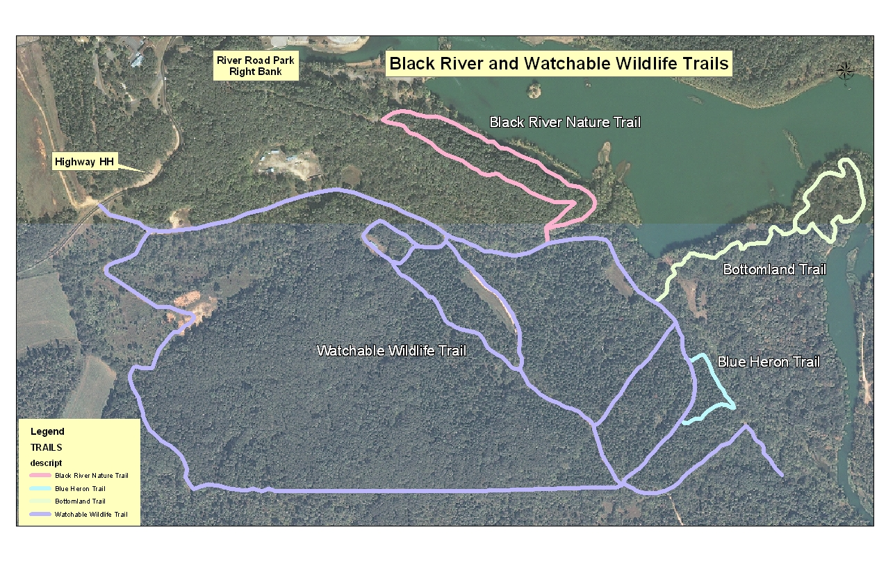 Watchable Wildlife Hiking Trail Map