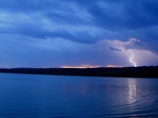 Lighting strike on DeQueen Lake.