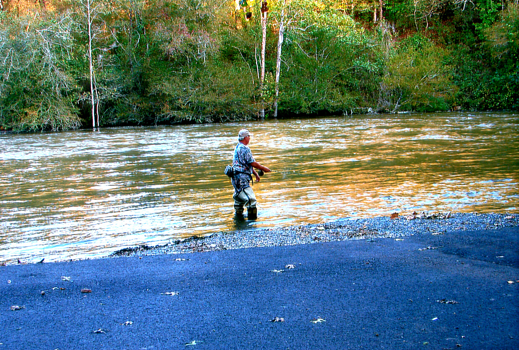 Fishing on the Cossatot River.