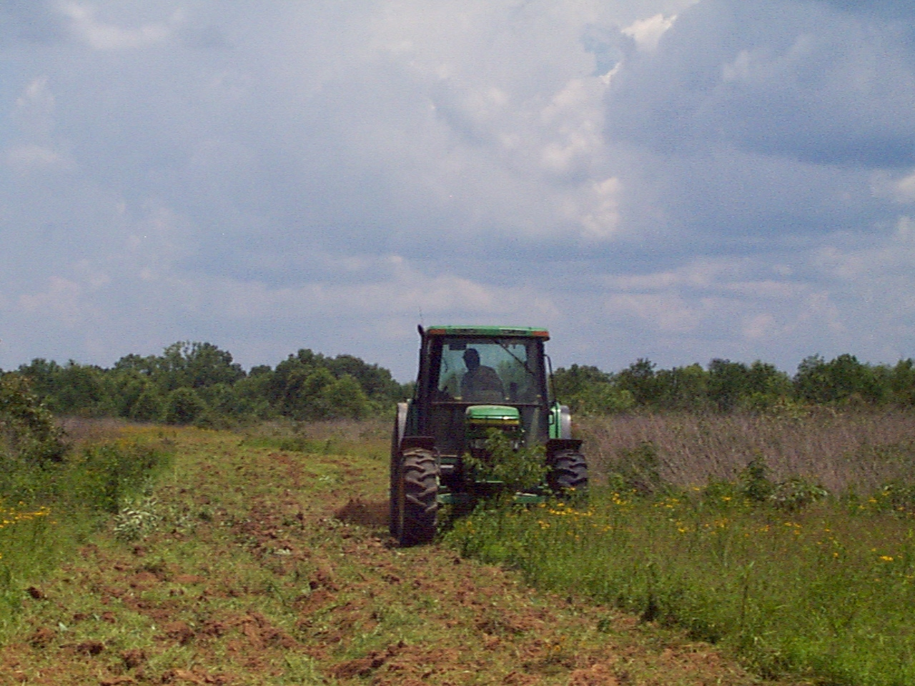 Preparing land for wildlife habitat improvement.