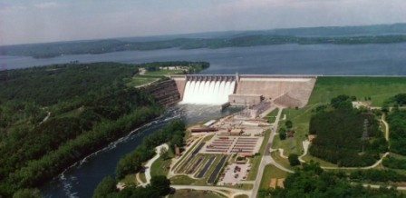 Aerial View of Table Rock Dam